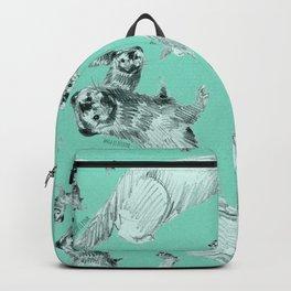 Mink in Bleu (pattern) Backpack