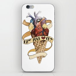 Eat Your Heart Out iPhone Skin