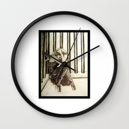 Clipped Wings Wall Clock