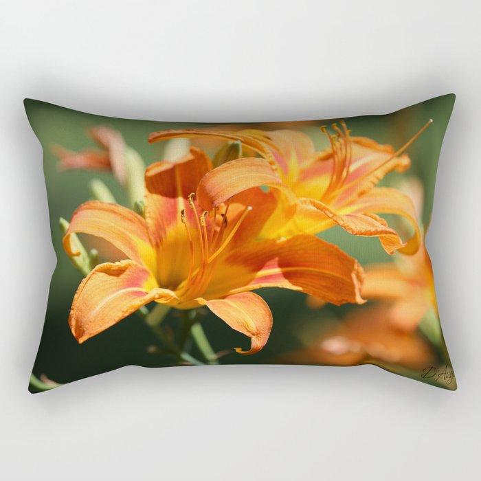 Day Lily Dance Rectangular Pillow