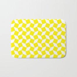 Yellow Op Art Pattern Bath Mat