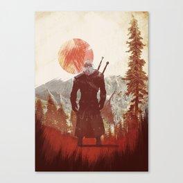 The Witcher Geralt variation print Canvas Print