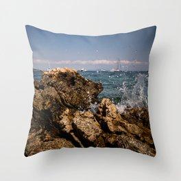 Rocks in Palma de Mallorca Throw Pillow