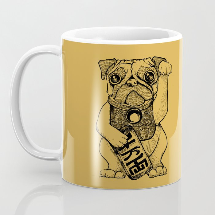 Lucky Pug [mustard] Coffee Mug