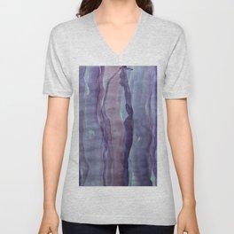 Violet Stripes Unisex V-Neck