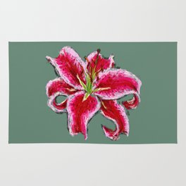 stargazer lily Rug