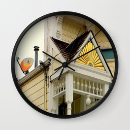 Vintage Gingerbread And Less Vintage Dish Wall Clock