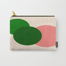 Peach Green Vintage Mod Circles Carry-All Pouch