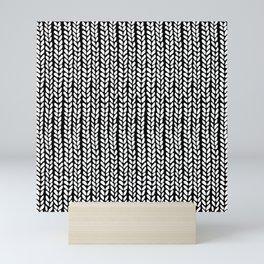 Knit Wave Black Mini Art Print
