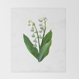 Lily of the Valley Floweret Throw Blanket