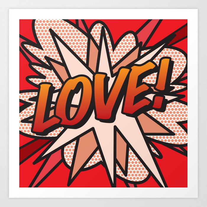 Comic Book LOVE! Art Print
