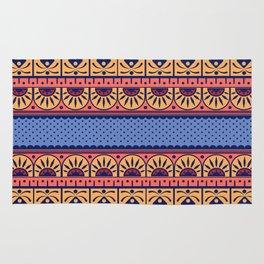Vintage Art Nouveau Motif Pattern Rug