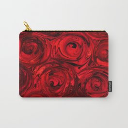 Red Apple Roses Abstract Carry-All Pouch