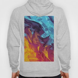 Surfing Europa. Dynamic Yellow, Orange and Blue Abstract. Hoody