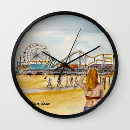 Santa Monica Pier Ferriswheel Wall Clock