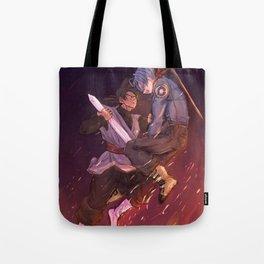 Black Goku vs Trunks Tote Bag