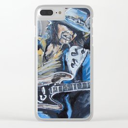 Stevie Ray Vaughn tribute Clear iPhone Case