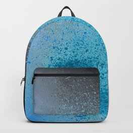 Blue and Black Spray Paint Splatter Backpack