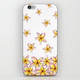 Lillies - Handpainted pattern - white background iPhone Skin