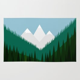 Pacific Northwest Mountains Rug