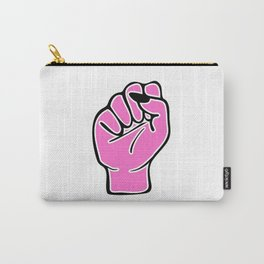 Pink female fist Carry-All Pouch