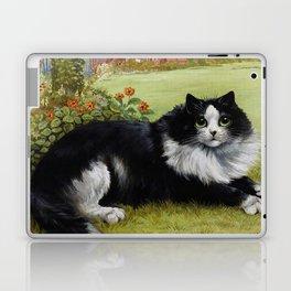 Black & White Kitty - Louis Wain Cats Laptop & iPad Skin