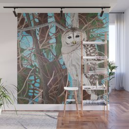 How Blue Your Eyes Do Appear, Barred Owl Wall Mural