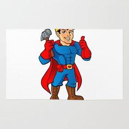 Superhero handyman guy. Rug