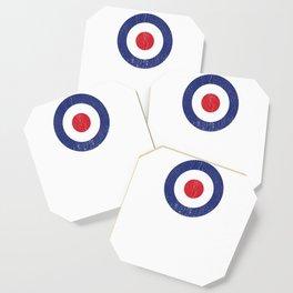 Roundel British War Plane Target Bullseye Cracked Coaster