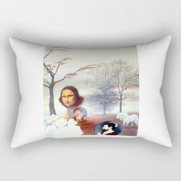 Mona Lisa and Friends Rectangular Pillow