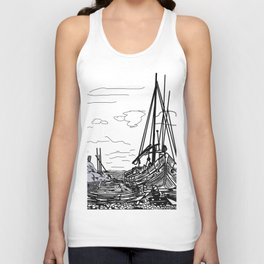 boats on the sea . https://society6.com/vickonskey/collection Unisex Tank Top