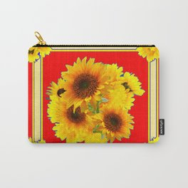 RED YELLOW SUNFLOWER BOUQUETS ART Carry-All Pouch