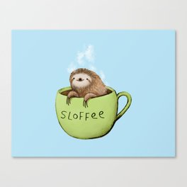 Sloffee Steam Canvas Print