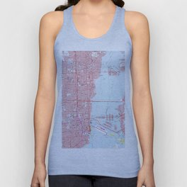 Vintage Map of Miami Florida (1962) Unisex Tank Top