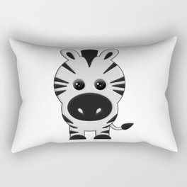 Cebra de Peluche Rectangular Pillow