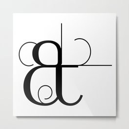 Curves Ampersand Art Typography Metal Print