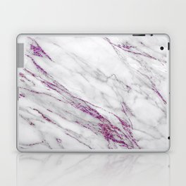 Gray and Ultra Violet Marble Agate Laptop & iPad Skin