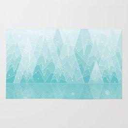 Geometric Lake Mountain IV - Winter Rug