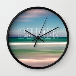 LOVE THE OCEAN II Wall Clock