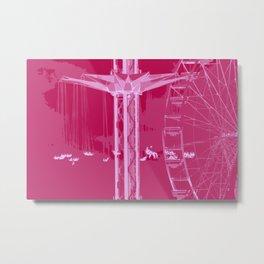 Carnival Rides - Pink Hues Metal Print