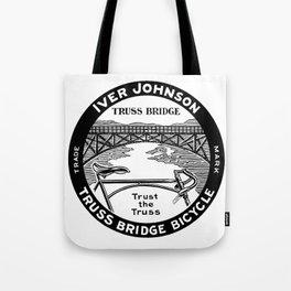Vintage retro Iver Johnson Truss Bridge bicycle ad Tote Bag