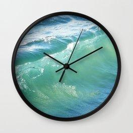 Teal Surf Wall Clock