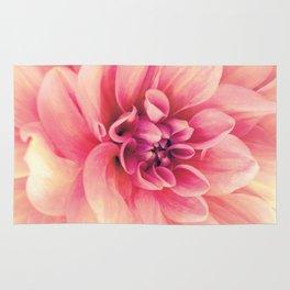 Her Smile (Spring Blooming Rose Pink Dahlia) Rug