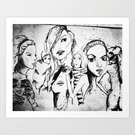 collage of women Art Print