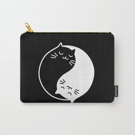 yin yang cats black Carry-All Pouch