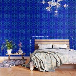 Blue kaleidoscope 2 Wallpaper