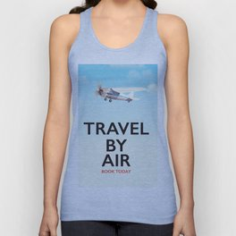 Travel By Air travel poster Unisex Tank Top