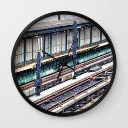 Train platform at Bay 50 street Wall Clock
