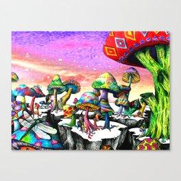 Mushroom Paradise Canvas Print
