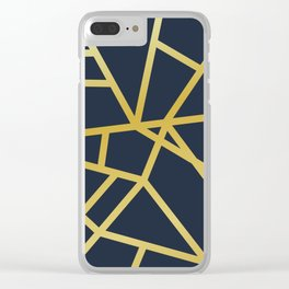 Copper and Midnight Navy society6 Clear iPhone Case